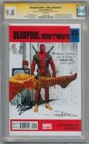 Deadpool Merc With A Mouth #9 CGC 9.8 Signature Series Signed Stan Lee Arthur Suydam Marvel